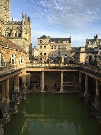 A view of the bath house & the original BATH