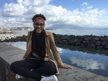 In Naples next to Mt. Vesuvius