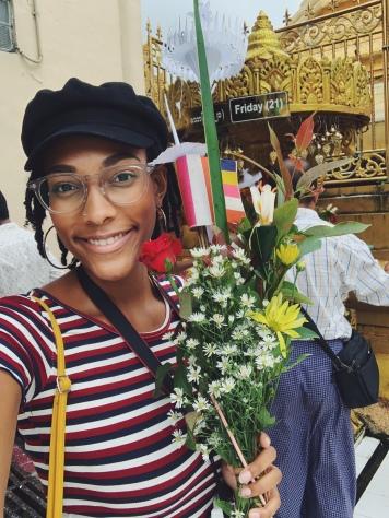 Making merit at Sule Pagoda Yangon