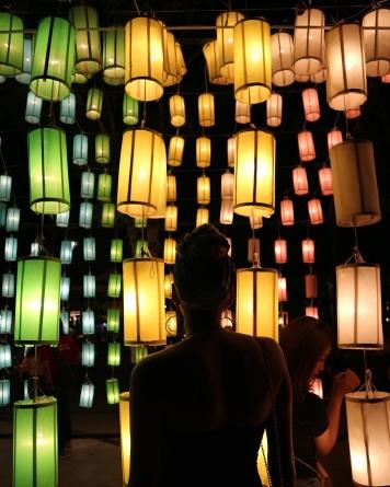 Loy Krathong Light Installation