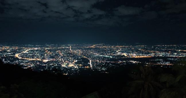 CNX at night from Doi Suthep